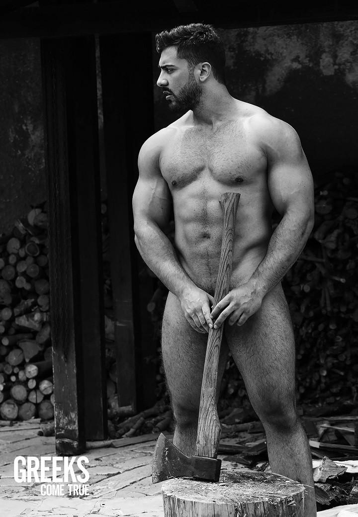 μαύρο καυτό γυμνό