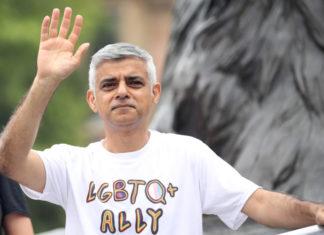 Ο Σαντίκ Χαν στο Pride του Λονδίνου, 6 Ιουλίου 2019, Φωτογραφία: Wiktor Szymanowicz/NurPhoto/Getty