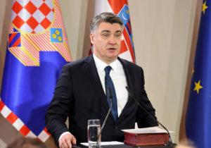 Ο πρόεδρος της Κροατίας, Zoran Milanović
