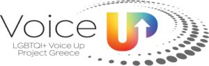 Το λογότυπο του έργου για το πρόγραμμα Voice Up